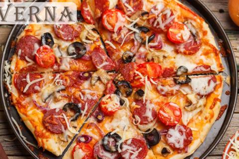 Аппетитные пиццы «Чикен», «Капричиоза», «Капоне» и множество других, а также осетинские пироги и сеты роллов от службы доставки Tavernafood. Скидка до 73%