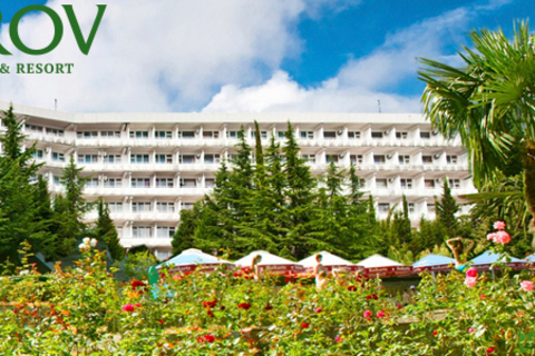 Отдых для двоих с санаторно-курортным оздоровлением или со spa-программой в санатории Kirov Health & Resort в Ялте на побережье Черного моря. Скидка до 52%