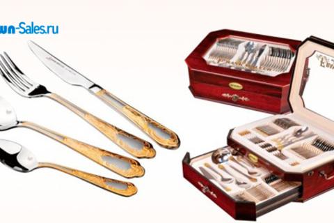 Набор посуды Swiss Home, набор столовых приборов на 12 персон, набор ножей в кожаном кейсе Frank Moller, а также столовый набор Frank Moller от интернет-магазина Town-Sales. Скидка до 59%