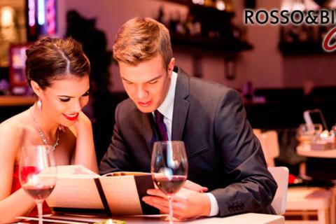 Ужин для двоих в изысканном ресторане Rosso&Bianco Café: блюда европейской и итальянской кухни, вкуснейшие десерты и напитки! Скидка 50%