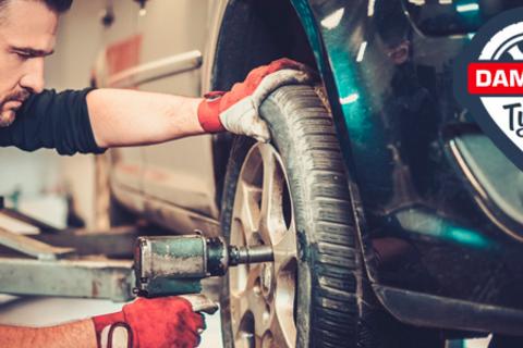 Шиномонтаж и балансировка четырех колес до R18 в автосервисе Damping Tyres в Озерках. Скидка 70%